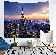 YZHEWQ Wall Tapestry city Tapestry for Bedroom