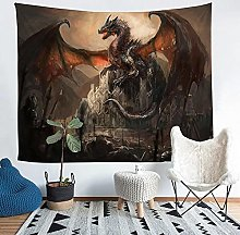 YZHEWQ Wall Tapestry Dragon Tapestry for Bedroom