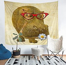 YZHEWQ Wall Tapestry hippo Tapestry for Bedroom