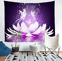 YZHEWQ Wall Tapestry lotus Tapestry for Bedroom