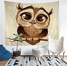 YZHEWQ Wall Tapestry owl Tapestry for Bedroom