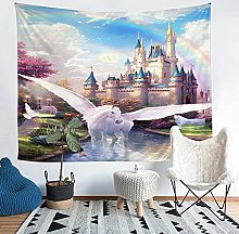 YZHEWQ Wall Tapestry Pegasus Tapestry for Bedroom