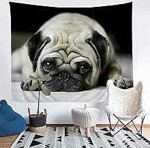 YZHEWQ Wall Tapestry puppy Tapestry for Bedroom
