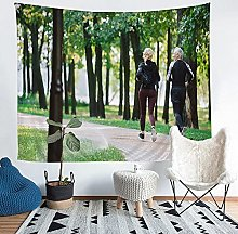 YZHEWQ Wall Tapestry Run Tapestry for Bedroom