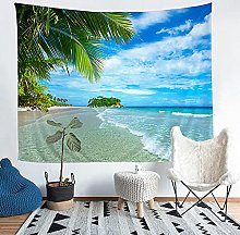 YZHEWQ Wall Tapestry seaside Tapestry for Bedroom
