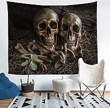 YZHEWQ Wall Tapestry Skeleton Tapestry for Bedroom