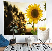 YZHEWQ Wall Tapestry sunflower Tapestry for