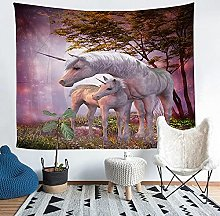 YZHEWQ Wall Tapestry unicorn Tapestry for Bedroom