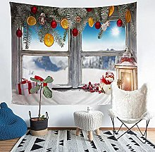 YZHEWQ Wall Tapestry window Tapestry for Bedroom