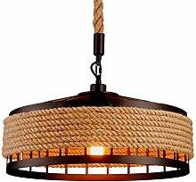 YZSJ Hanging Lamp Vintage Hemp Rope Pendant Lamp
