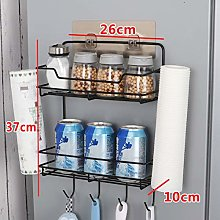 Yzwen Refrigerator Side Storage Rack Shelf