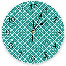 Yzybw Round Wall Clock Modern Colour Design