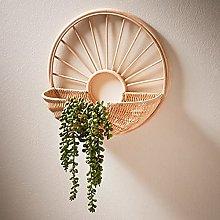 Z&Q Rattan Decorative Shelf Perfect Storage of