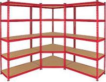 Z-Rax Corner Shelving Unit & 2x 90cm Garage