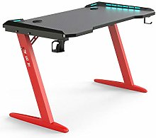 Z Shaped Red Gaming Desk Gamer Computer Table with