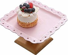 Z-W-DONG Pink Retro Cake Stand, Dessert Table