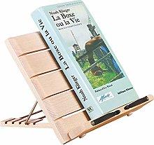 Zacheril Book Stand Wooden Cookbook Stand Cook