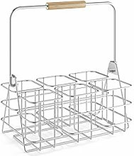 ZACK Bottle Carrier Basket stainles Steel,