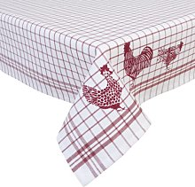 Zack Tablecloth Symple Stuff Colour: White/Red