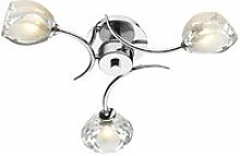 Zagreb ceiling light polished chrome and molded