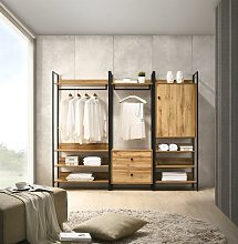 Zahra 3 Piece Bedroom Furniture Set Open Wardrobe
