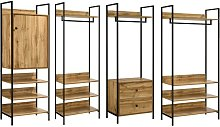 Zahra 4 Piece Bedroom Furniture Set Open Wardrobe