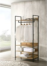 Zahra Bedroom Double Open Wardrobe 4 Shelves