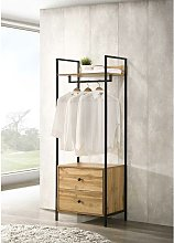 Zahra Bedroom Open Wardrobe 2 Drawers Wotan Oak