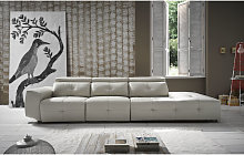 Zaira Italian Leather Sofa Artico