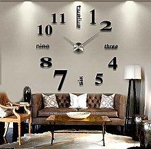 Zairmb Large Modern Wall clock 3D Stick on Silent