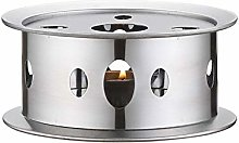 ZAK168 Stainless Steel Teapot Warmer Base, Round