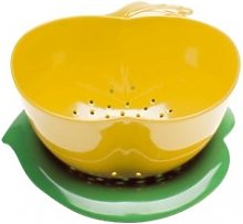 zakdesigns Apple Colander, Yellow/Green