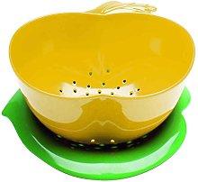 zakdesigns Apple Colander, Yellow/Green