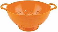 zakdesigns Classic Colander, Melamine, Orange, 15