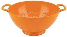 zakdesigns Classic Colander, Melamine, Orange, 15