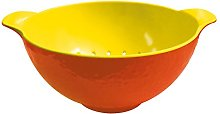 zakdesigns Mini Colander, Melamine, Orange/Yellow,