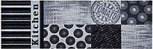 Zala Living Tomato Kitchen Rug Polyamide Grey 50 x