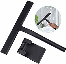 Zaleonline Shower Squeegee with Hanging Hook Black