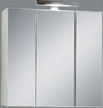 Zamora 3 Mirrored White Bathroom Cabinet With