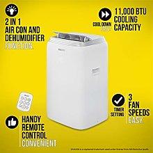 Zanussi ZPAC11001 Air Conditioner, 1250 W, 1