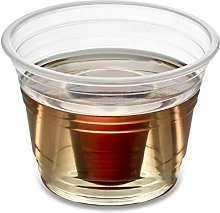 Zappy 150 Clear Jager Bomb Cups Disposable Plastic