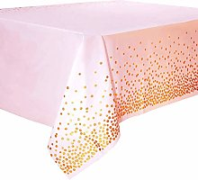 Zariocy 2 Pack Plastic Tablecloth Dot Printing