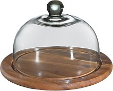 Zassenhaus cheese dome with glass cover, brown, Ø