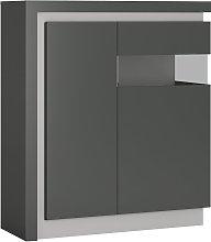 Zayden 2 Door LED Right Hand Display Cabinet -