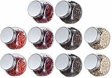 Zaza Household jar Glass Candy Jar Cookie Jar With