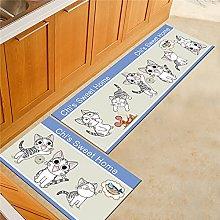 ZAZN Pet Cartoon Carpet Cat Printed Bedside
