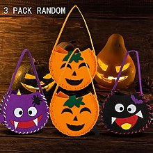 ZB 3 Pack Halloween Pumpkin Basket Large Kid's