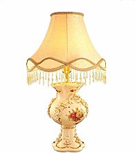 ZBY Lamp Light Beige Ceramic Table Lamp, Marriage