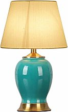 ZBY Lamp Light Ceramic Table Lamp, Cloth