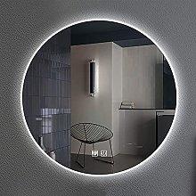 ZBY Led Round Mirror Bathroom Vanity Mirror Wall